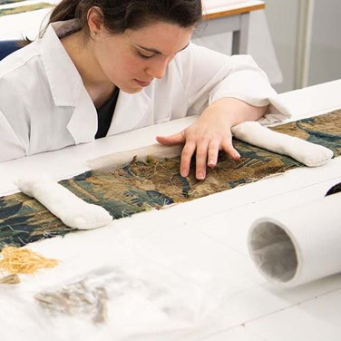 We awarded £35,500 to the Centre for Textile Conservation, providing a bursary for a postgraduate degree in Textile Conservation. The MPhil offers both an academic programme and professional training.
